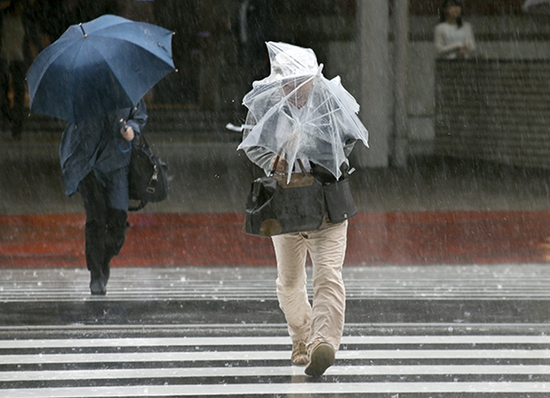 Typhoon Phanfone hits Japan