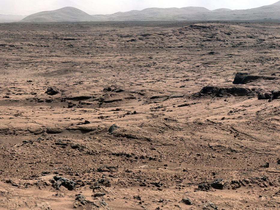 View from Rocknest position of Curiosity Mars Rover